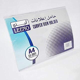 L- Shape sign holder A4 Leeno Curved