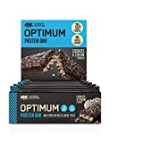 Optimum Nutrition ON Protein Bar barritas proteínas con whey protein isolate, dulces altas en proteína y low carb, galletas y crema, 10 barras (10 x 62 g)