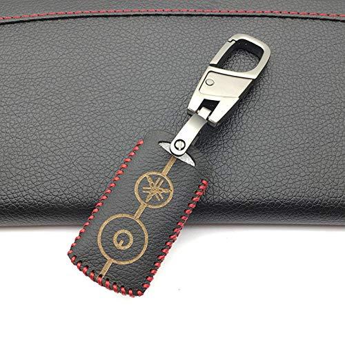 HOMGB Key Cover Car Key Case Car Key Cover for Yamaha NVX155 QBIX AEROX JAUNS XMAX300 2 Buttons Motorcycle Remote Protect Shell,Black