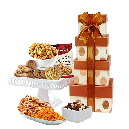 Broadway Basketeers Gourmet Celebration Gift Tower -Gift...