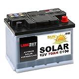 Solarbatterie 70Ah 12V Wohnmobil Boot Camping Schiff Rollstuhl REHA Batterie Solar 60Ah (70AH 12V) -