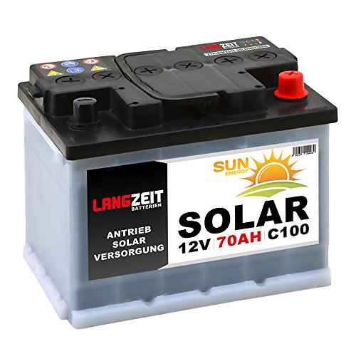 Solarbatterie 70Ah 12V Wohnmobil Boot Camping Schiff Rollstuhl REHA Batterie Solar 60Ah (70AH 12V)