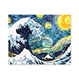 Awolf Great Wave DIY Oil Painting Paint by Number Kits Painting for Adults and Kids Arts for Home Wall Décor-40x50CM