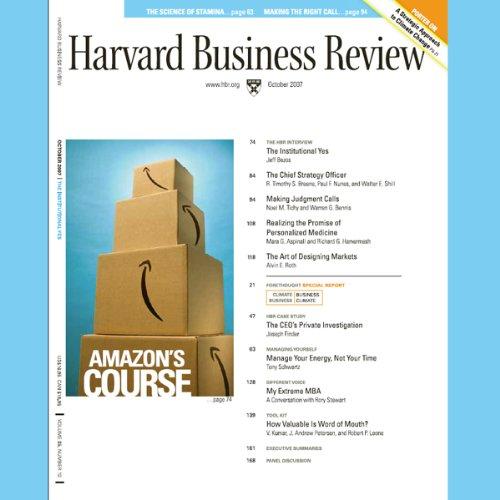 Harvard Business Review, October 2007 audiobook cover art