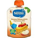 Nestlé Naturnes - Bolsitas de Manzana, Plátano y Avena - A Partir de 6 Meses - Pack de 8 x 90 g