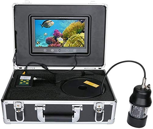 Fish finder 50M Professional Underwater Fishing Video Camera 9 Inch Color Screen Waterproof 22 LEDs 360 Degree Rotating Camera