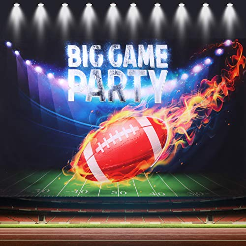 American Football Theme Football Backdrop 6Ftx3.6Ft for Party Decorations Big Game Party Kids Photography Background Football Theme Birthday Photo Props Football Field Photo Booth Backdrop Banner