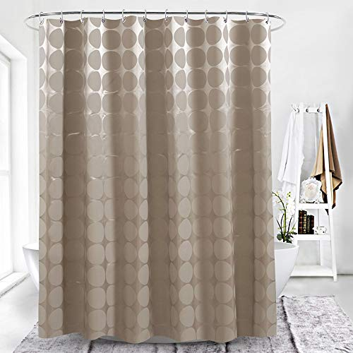SONGHJ Dickem Polyester Duschvorhang Mokka Ball Europäischen Wasserdicht Und Mehltau Vorhang Haushalt Hotel Einfache Partition Vorhang