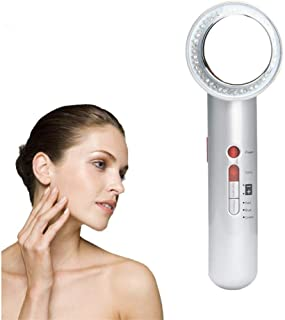 BelleLotus Ultrasonic Body Slimming Massager, 7 in 1 EMS Galvanic Photon Wrinkles Remove Skin Rejuvenation Beauty Cellulite Firming Machine, with Gloves,Pearl White