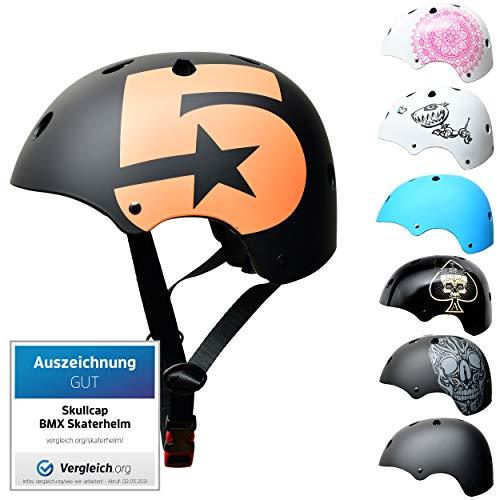 SkullCap BMX & Casco per Skater Casco - Bicicletta & Monopattino Elettrico, Design: No. 5, Taglia: S (53-55 cm)