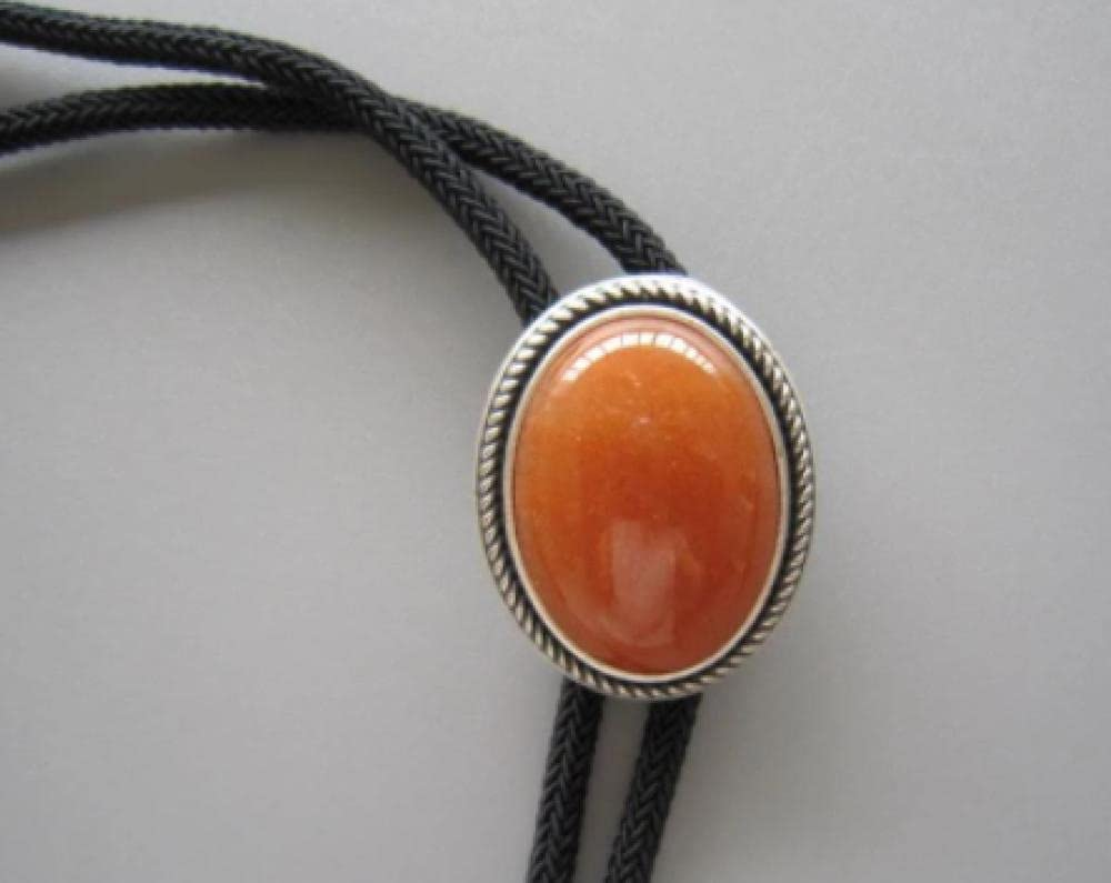 YPYSD Bolo Ties Beauty products Red Aventurine Tie mart Neckl Oval Wedding Stone