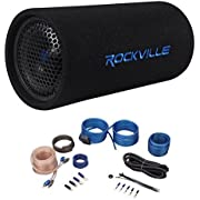 "Rockville RTB65A 6.5"" 300 Watt Powered Subwoofer  MP3 Input + Amp Kit"