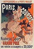 Carnet ligné Affiche Hippodrome Porte Maillot Paris (BNF Affiches)