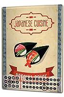 カレンダー Perpetual Calendar Kitchen japanese cuisine Tin Metal Magnetic