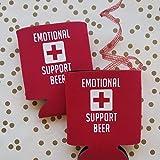 2 pack Emotional Support Beer Coolie cozy holder beer holder can cooler