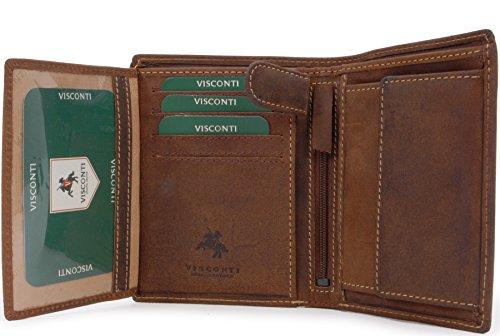 Visconti Heren Portemonnee - Hunter Leer - Organiser - Geschenk doos - 709 - Rifle - Olie Tan - RFID