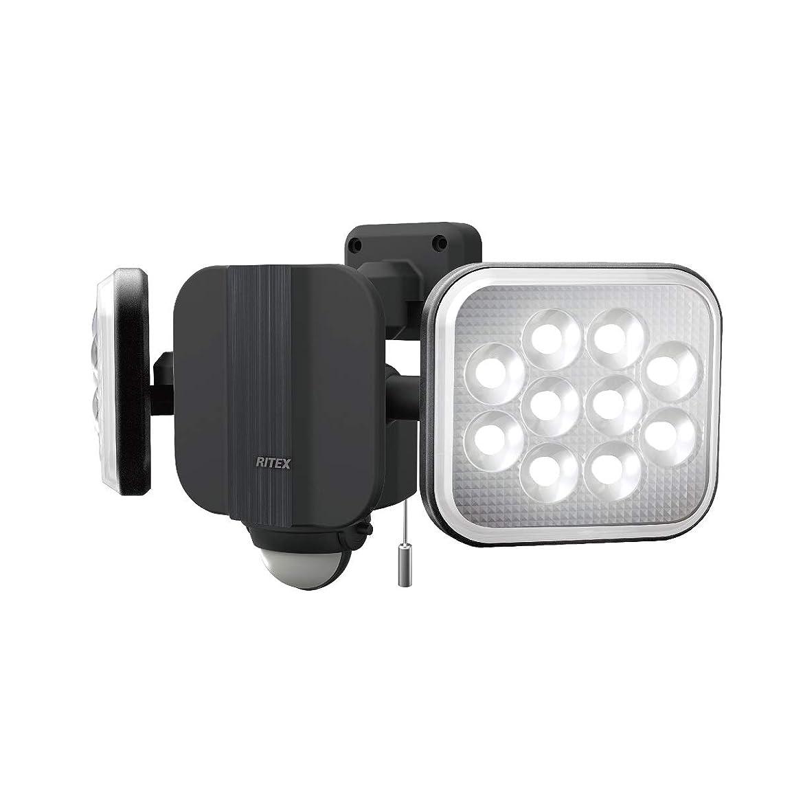 政治家のキャッチルアームサシ(MUSASHI) センサーライト ブラック 本体サイズ: 幅 31.3 × 奥行 12.5 ×高さ 14.6 cm 14W×2灯フリーアーム式LEDセンサーライト LED-AC2028