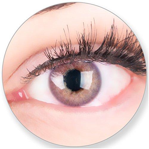Glamlens Kontaktlinsen farbig violett Lila ohne Stärke - mit Kontaktlinsenbehälter. Sehr stark deckende natürliche Blau lila 1 Paa Monatslinsen weich Silikon Hydrogel