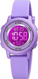 Sponsored Ad - YxiYxi Kids Digital Sport Waterproof Watch for Girls Boys Kid Sports Outdoor 7 Colorful LED Electrical Watc...