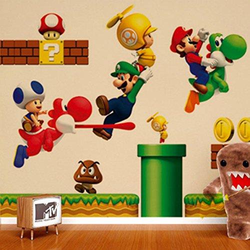 Nintendo Super Mario Bros Wandtattoo Wandaufkleber Sticker 50 x 70 cm*NEU*OVP*