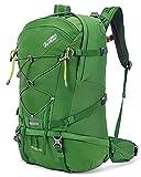 Terra Peak Flex 40 Wanderrucksack 40L grün unisex Outdoorrucksack für Wandern, Radfahren, Reisen, Sport wasserabweisendes Material, Trinksystem mit Helmhalterung und Fach für Laptop 15,6' Regenhülle