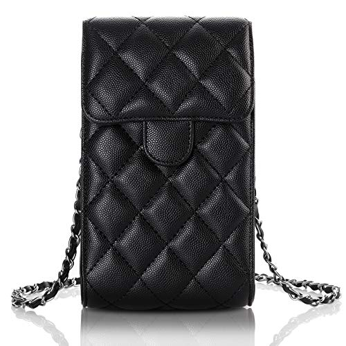 CHEERINGARY Crossbody Bag Cell Phone Bag Wallet with Credit Card Slots for Women Girls Lightweight Case Crossbody Leather Handbags Compatible with iPhone 12,12 Pro, 11, XR, Galaxy S21, S10, Black