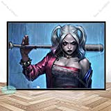 yiyiyaya Plakate und Drucke Harley Quinn JokerSquad Art Poster Leinwand Gemälde Wandkunst Bild für Wohnzimmer Home Decor 50x75cm