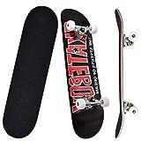 Kaigelu888 Completo Skateboard para Principiantes 31'x8' 9 Capas Monopatín de Madera de...