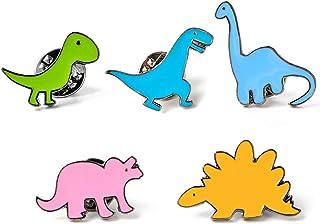 Broche,Lindos Broches de Dinosaurio,Broche de Metal,Accesorios de Ropa Broche de Esmalte,Regalos de Joyería con Una Hermos...
