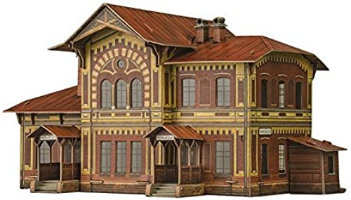 Model railroad. 3d Puzzle. Mozhayskaya Station, Russia. Clever 14309 by CLEVER PAPER