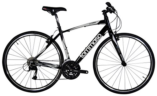 Tommaso La Forma Lightweight Aluminum Hybrid Bike -Black/White - XXSmall