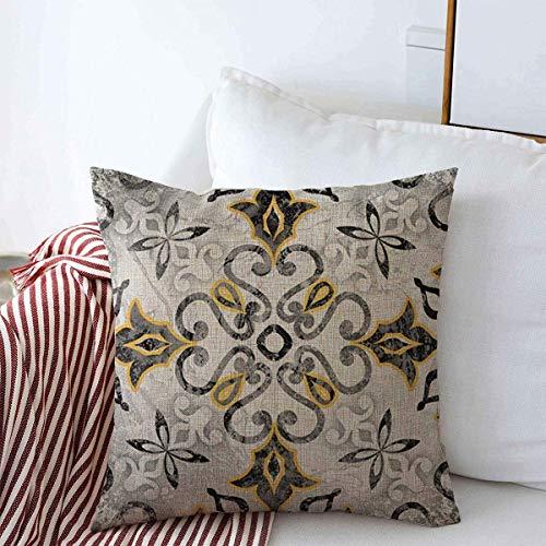 Cojines Fundas para almohada Funda de cojín Artesanía de cerámica abstracta del color del modelo de la casa marroquí italiana del vintage antiguo Throw Cojín Caso 45 X45CM