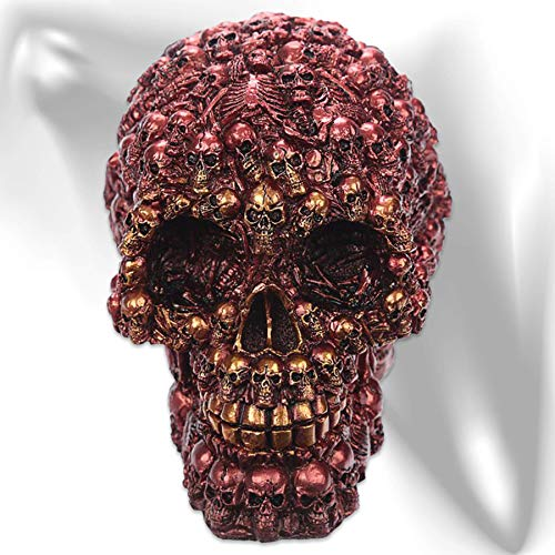 mtb more energy Teschio Decorativo ''Skull of Skulls'' - Rosso - Altezza 15 cm - Decorazione Figura Cranio Horror Fantasy
