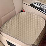 HIZH Leather Car Seat Covers For Ford Escort Fiesta Mondeo Focus Fiesta Edge Explorer Taurus S-MAX F150 Everest,Beige