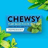 Chewsy Goma De Mascar Menta | Chicles Naturales Sin Plástico | Chicles Sin Azucar Y Aspartamo | 100% Xilitol, Protege Los Dientes | Vegano 15g (Pack De 12, 120pcs.)