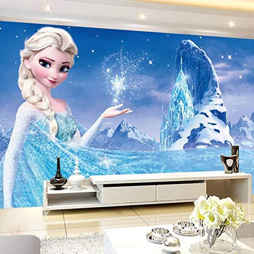 LYBH Papel tapiz mural 3D fondo fotográfico autoadhesivo anime dibujos animados hielo nieve niña 250x175 cm (WxH) niños dibujos animados niño niña dormitorio decoración póster papel tapiz fondo pelíc