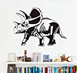 FFYYJJLEI Torosaurus Wall Stickers for Kids Rooms Dinosaurs Vinyl Removable Wall Art Mural Decals Home Decoration Accessories