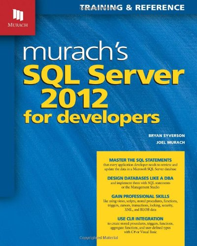 Image OfMurach's SQL Server 2012 For Developers (Training & Reference)