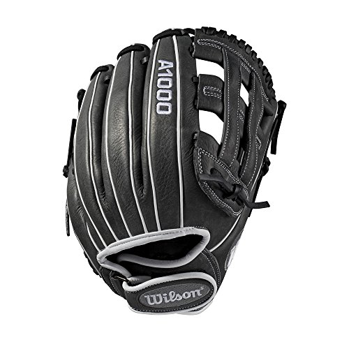 """Wilson A1000 12"""" Infield Fastpitch Glove - Right Hand Throw , Grey/White - Infield Model"""
