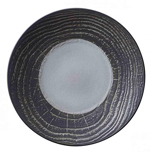 Visiodirect Lot de 2 Assiettes Plates Revol Abro Poivre - 31 cm