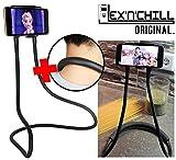 Flex'n'Chill Original Nacken Handyhalter, Universelles Schwanenhals Handyständer, Handyhalterung für Smartphones wie iPhone, Samsung, Sony Xperia, Huawei Perfekt für Serien Fußball Auch im Auto