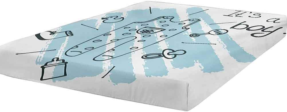 LCGGDB Gender Reveal Fitted Sheet Twin Size Clothe Quote Genuine Free New York Mall Shipping Its Boy