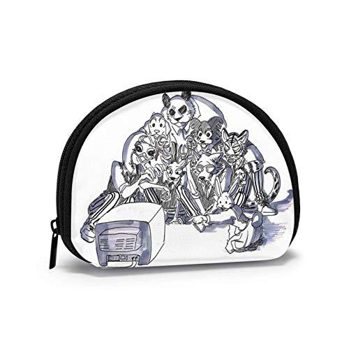 Beastars Bolsa de almacenamiento linda y personalizada, cartera en forma de concha, monedero pequeño