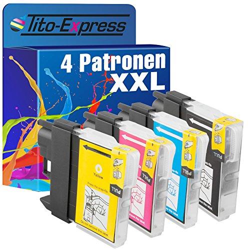 platinumserie 4cartuchos de tinta XXL compatible para Brother LC980DCP de 370Series DCP 373CW