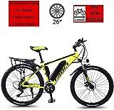 Bicicleta eléctrica de nieve, Bicicleta eléctrica, bicicleta para montaña / urbana, 26 Ruedas de altavoz, suspensión delantera, engranajes de transmisión de 21 velocidades con motor de 350W y batería