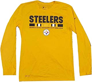 Nike Mens Pittsburgh Steelers Long Sleeve Shirt Yellow/Black 840995-750