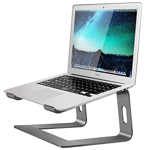 Soundance Laptop Stand, Aluminum Computer Riser, Ergonomic Laptops Elevator for Desk, Metal Holder Compatible with 10 to 15.6 Inches Notebook Computer