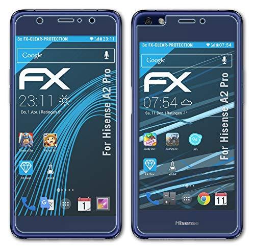 atFolix Schutzfolie kompatibel mit Hisense A2 Pro Folie, ultraklare FX Bildschirmschutzfolie (3er Set)