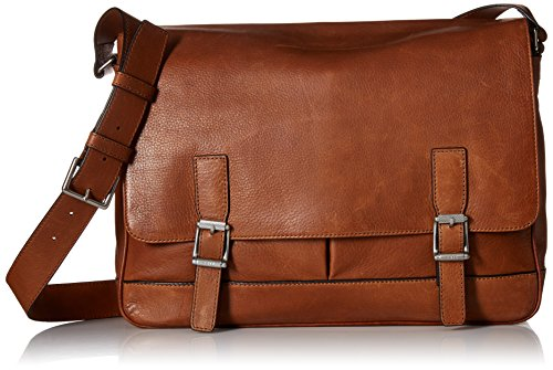 FRYE Men's Oliver Messenger Bag, Cognac, One Size