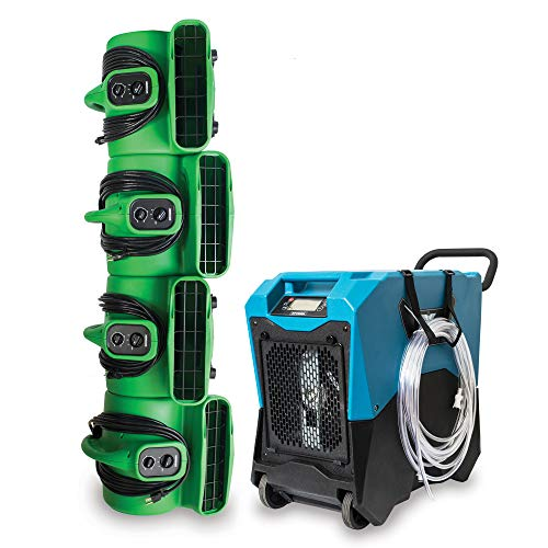 Find Bargain XPOWER Disaster Restoration Express PRO Pack w/LGR Dehumidifier & Industrial Air Movers
